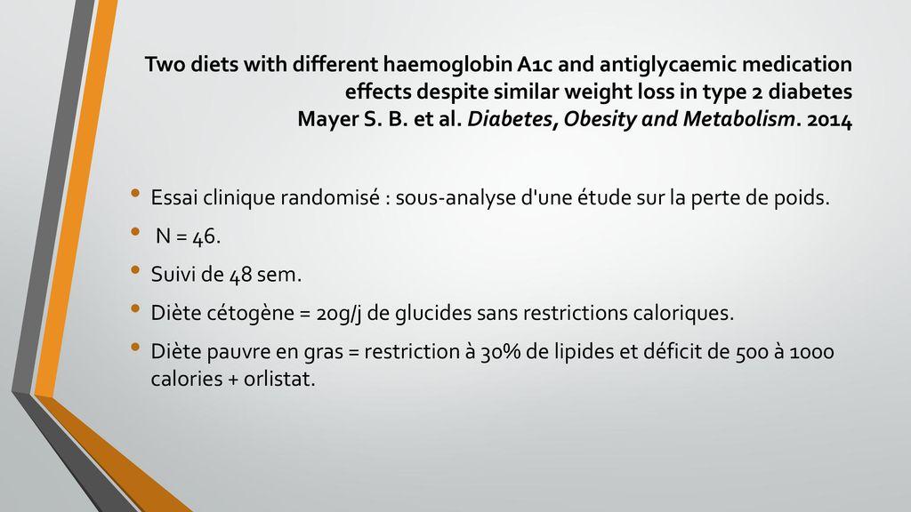 impact de la perte de poids sur a1c