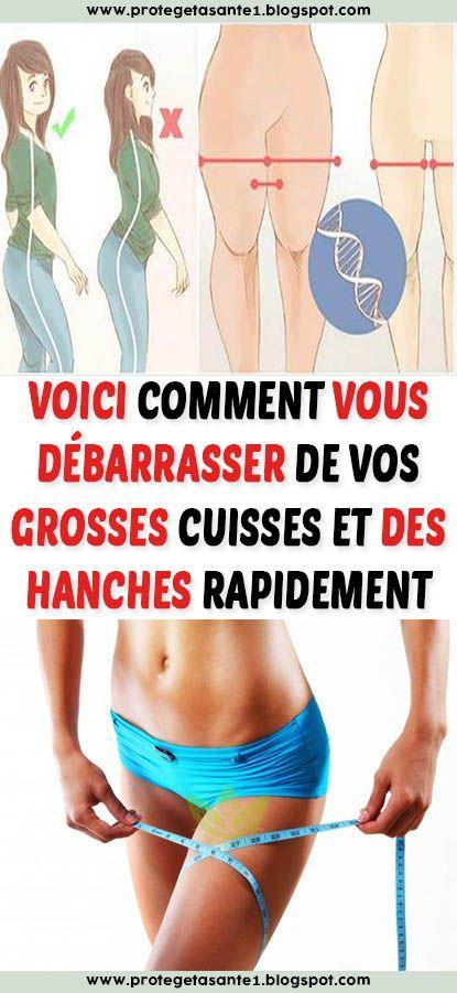 perdre la graisse des hanches rapidement