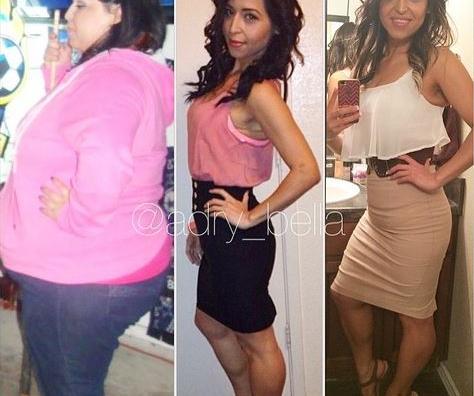 transformation de perte de poids avant et après