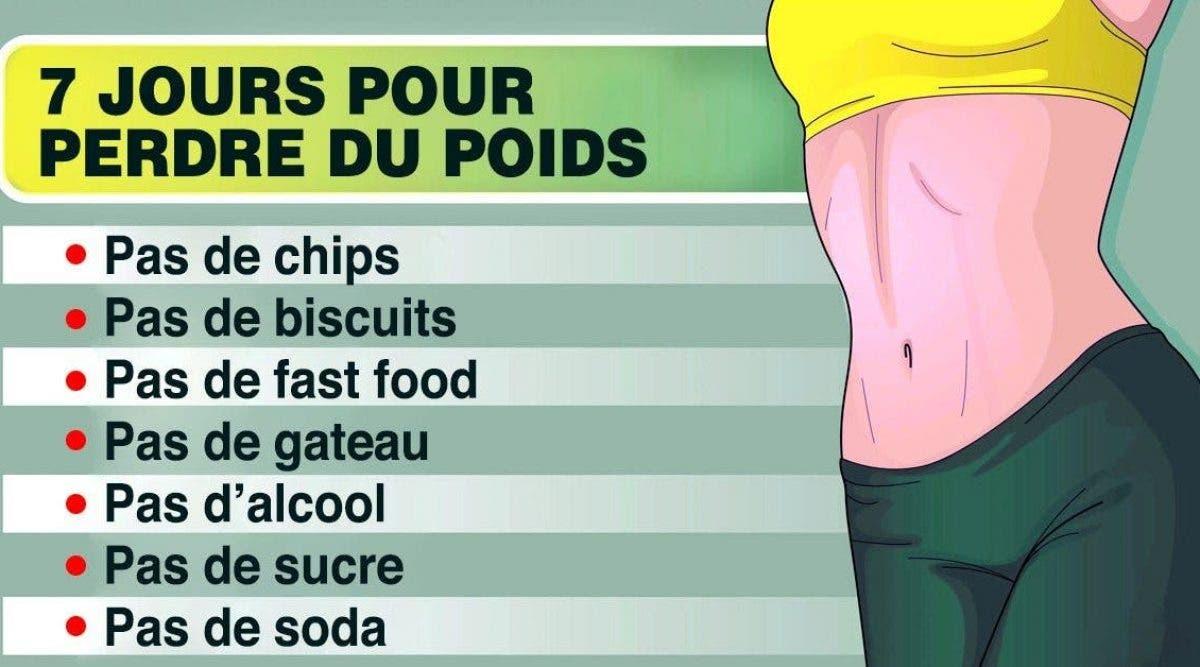 Perdre 5 kilos en 2 jours