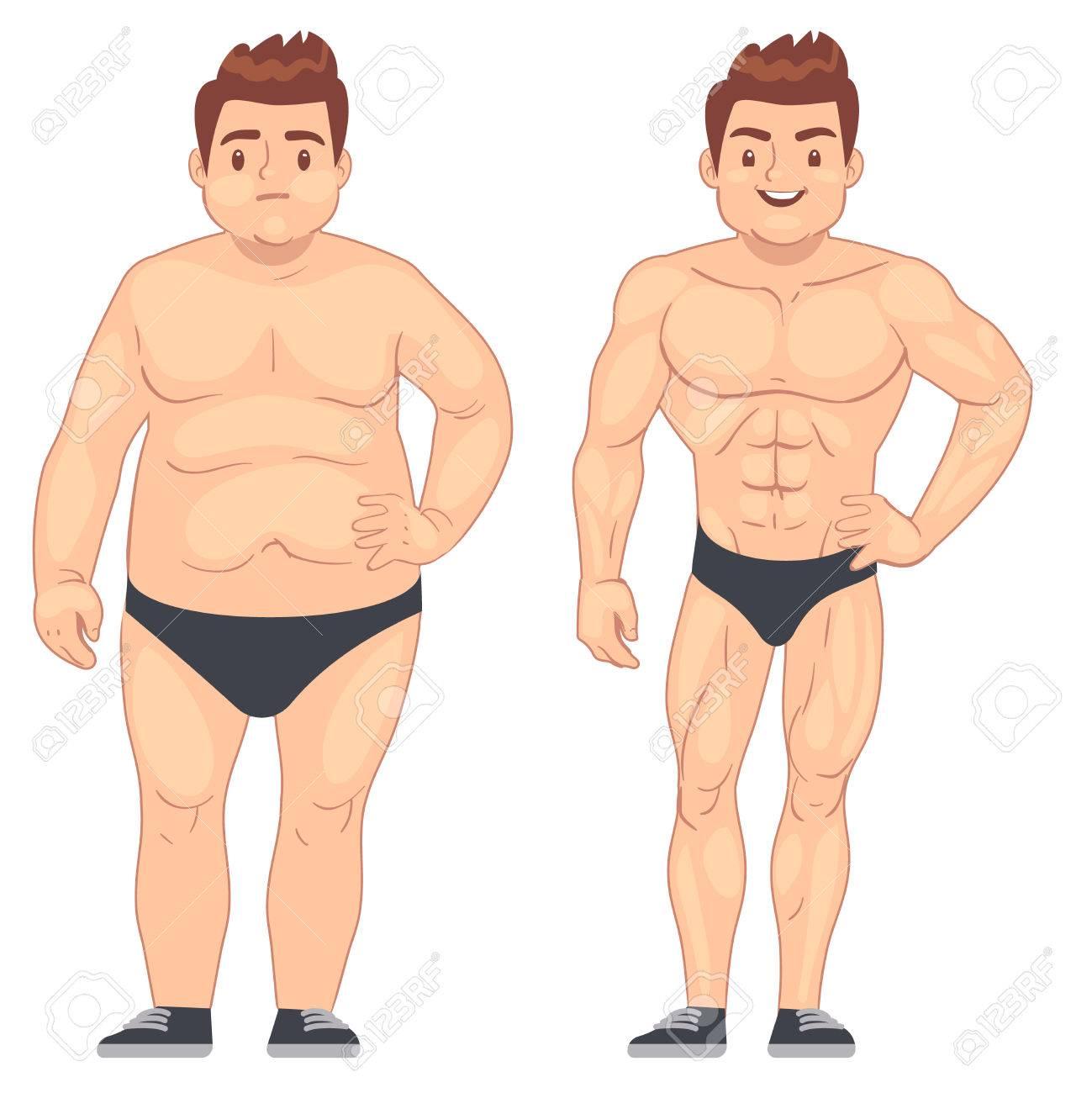 gros homme perte de poids brûleur de graisse haute définition