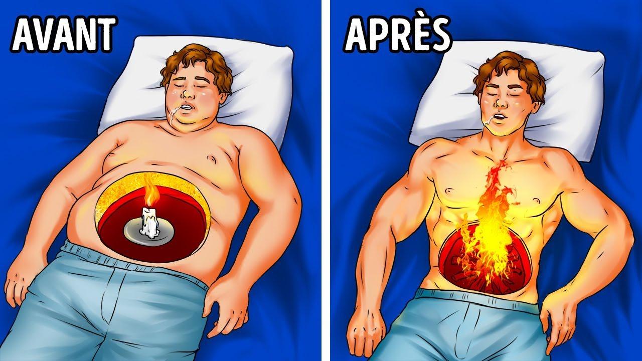 comment brûler les graisses rapidement en dormant mincir le ventre en une semaine