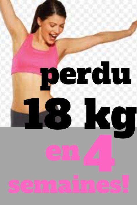 comment perdre du poids en 4 semaines