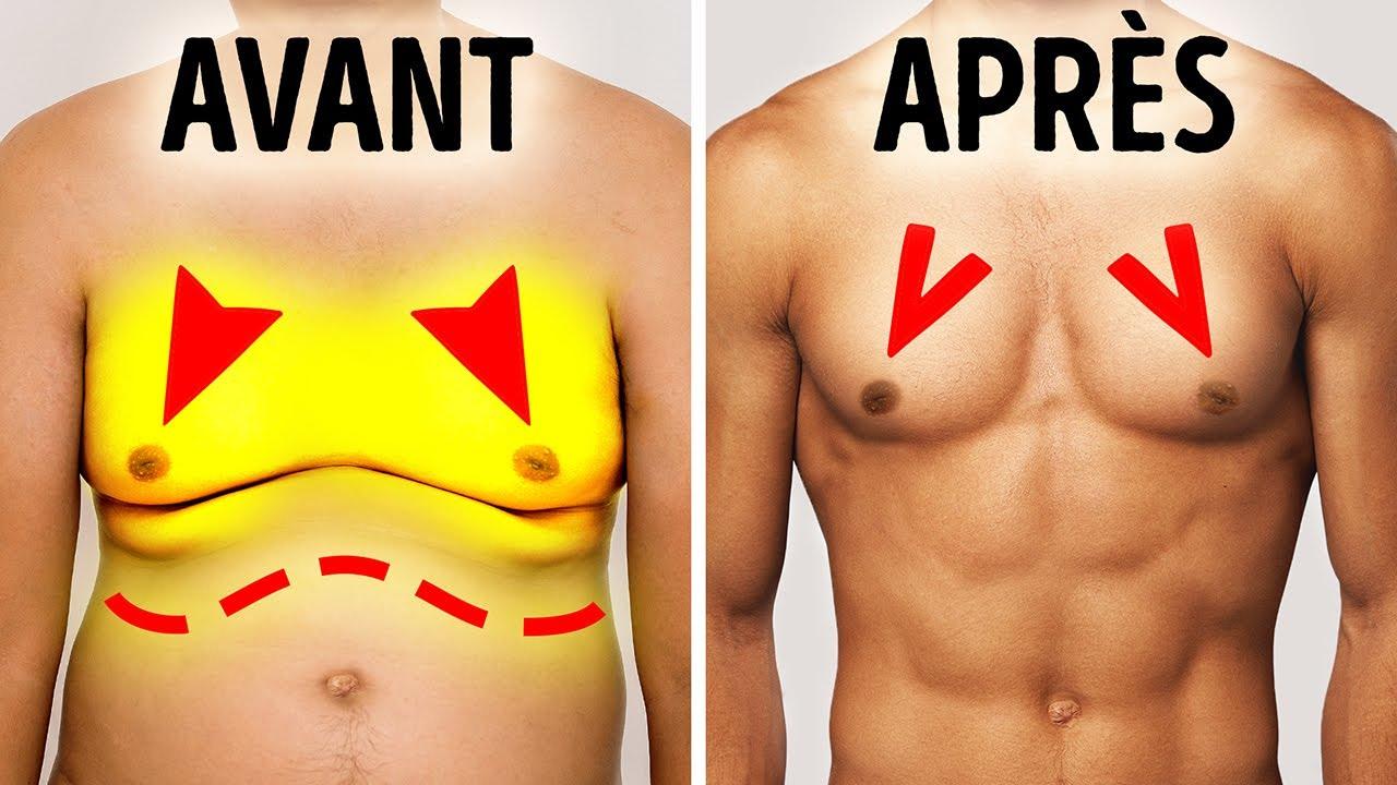 les tractions brûlent la graisse de la poitrine