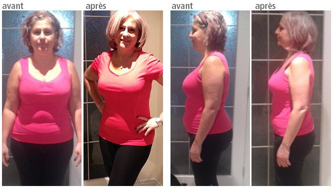 55 livres de perte de poids