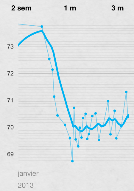 application graphique de perte de poids