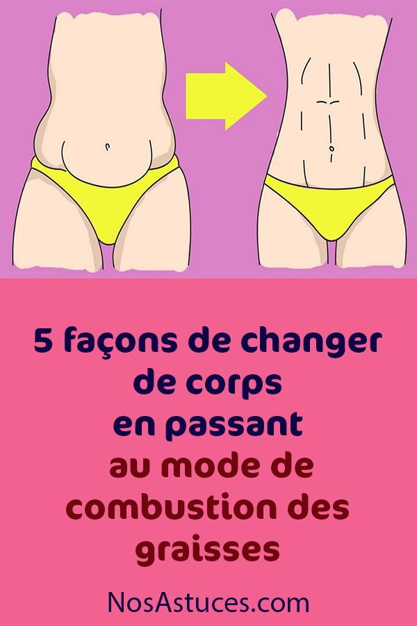 corps en mode de combustion des graisses