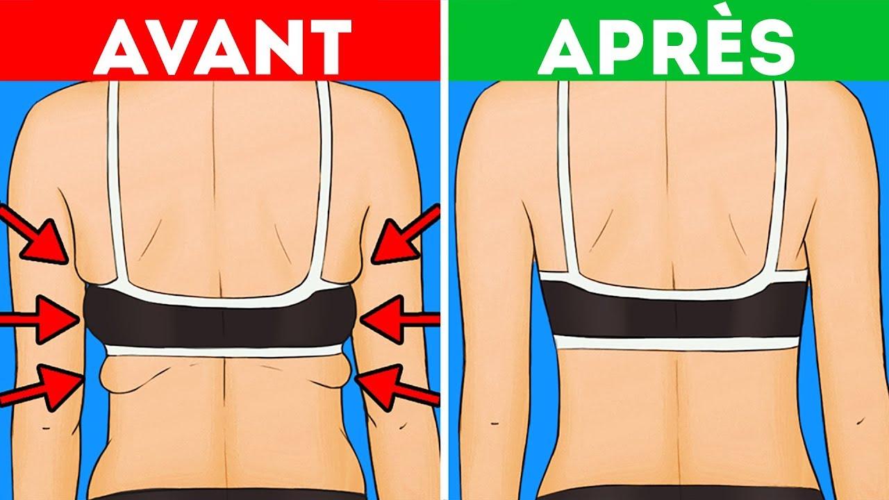 enlever la graisse du soutien-gorge du dos