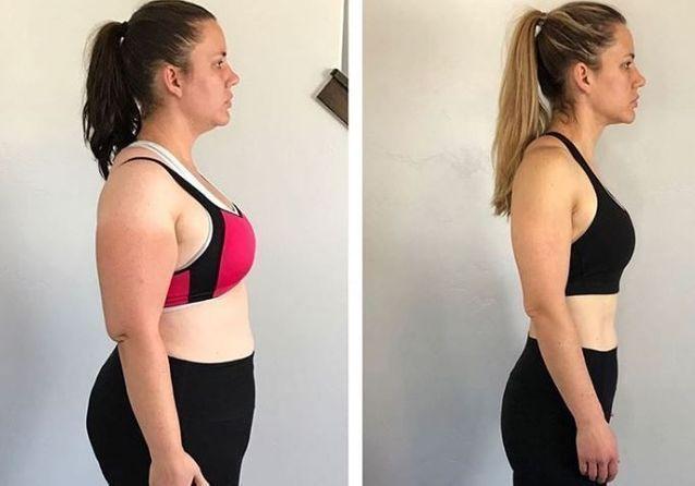 ma transformation corporelle de perte de poids de 2 semaines