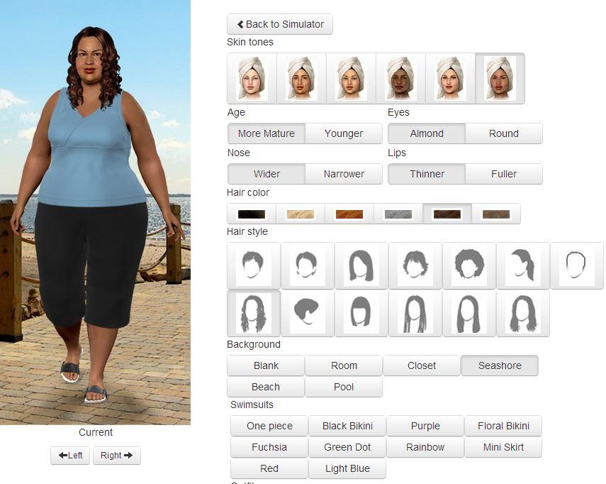 miroir de poids - perte de poids virtuelle