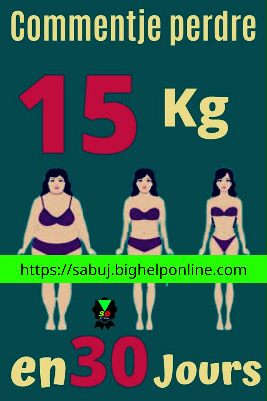 perdre du poids en 30 jours naturellement