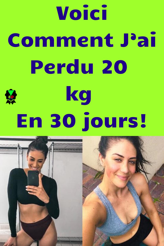 perte de poids 20 kg en 30 jours