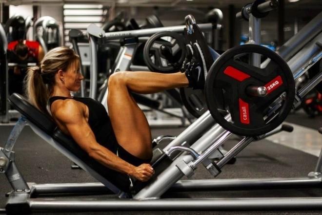 perte de poids grâce à la presse à jambes