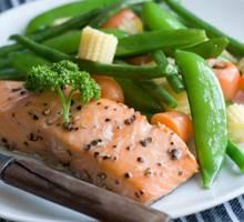 repas de perte de poids faible en gras