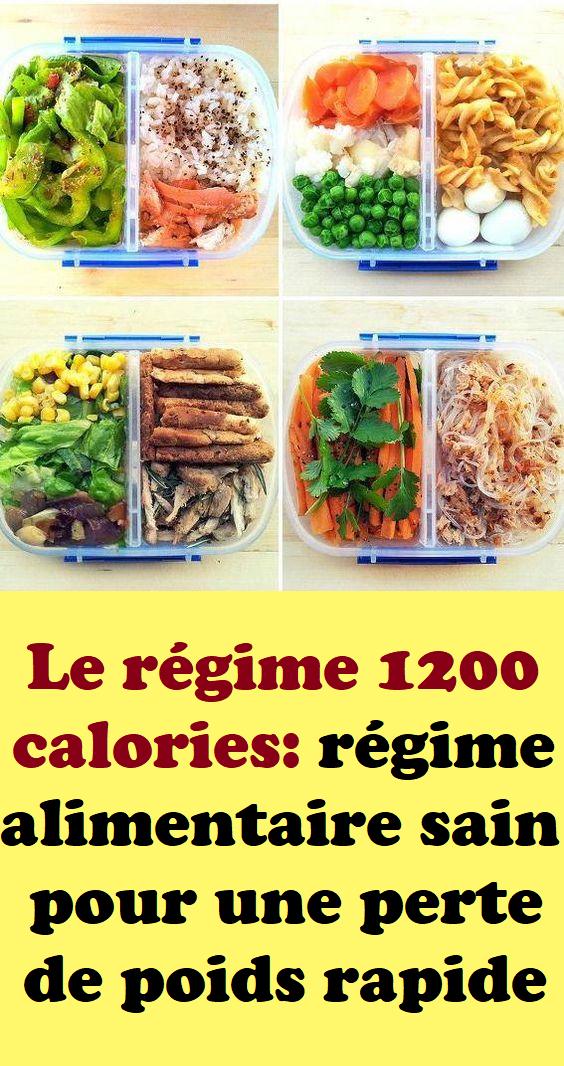 repas de perte de poids rapide et sain
