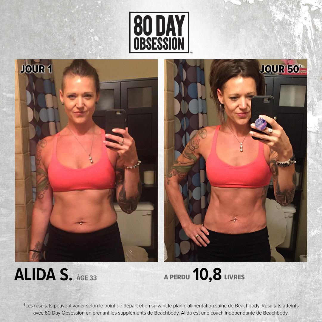 Résultats de perte de poids obsession de 80 jours