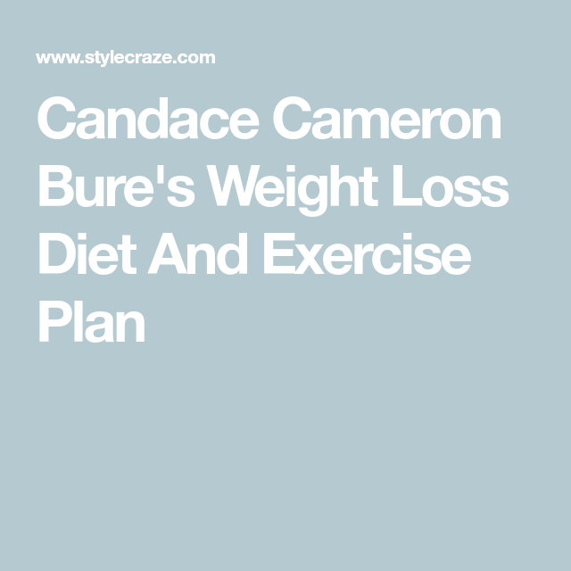 candace cameron perte de poids