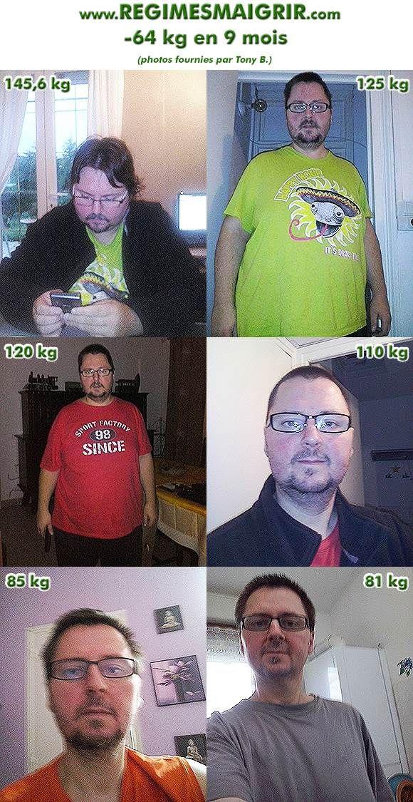 Qu'a fait Tony pour perdre 64 kilos en 9 mois ?